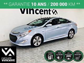 Used 2014 Hyundai Sonata HYBRID LIMITED TOIT PANO ** GARANTIE 10 ANS ** Prenez un virage vert! for sale in Shawinigan, QC
