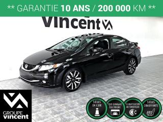 Used 2015 Honda Civic TOURING CUIR GPS ** GARANTIE 10 ANS ** Découvrez la version luxueuse de notre Civic! for sale in Shawinigan, QC