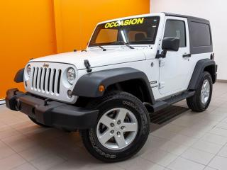 Used 2016 Jeep Wrangler SPORT 4X4 *2 TOITS* A/C *AUTOMATIQUE* BAS KM*PROMO for sale in Mirabel, QC