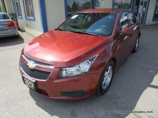 Used 2012 Chevrolet Cruze FUEL EFFICIENT LT EDITION 5 PASSENGER 1.4L - ECO-TEC - TURBO.. CD/AUX INPUT.. KEYLESS ENTRY.. for sale in Bradford, ON