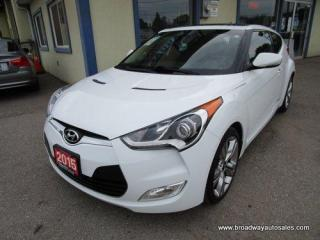Used 2015 Hyundai Veloster LOADED 6-SPEED MANUAL 5 PASSENGER 1.6L - DOHC.. NAVIGATION.. LEATHER TRIM.. HEATED  SEATS.. HEATED STEERING WHEEL.. POWER SUNROOF.. BACK-UP CAMERA.. for sale in Bradford, ON