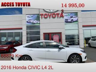 Used 2016 Honda Civic Toit Ouvrant for sale in Rouyn-Noranda, QC