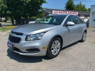 Used 2016 Chevrolet Cruze LT/Accident Free/Automatic/BT/Bckup Cam/Certified for sale in Scarborough, ON