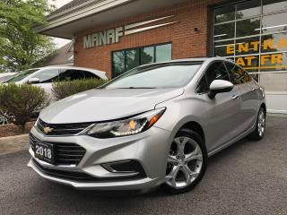 Used 2018 Chevrolet Cruze Premier Navi Sunroof Rear Cam R.Starter Certified* for sale in Concord, ON