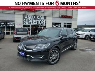 Used 2016 Lincoln MKX Reserve, AWD, Leather, NAV, Sunroof, Heated Seats. for sale in Niagara Falls, ON