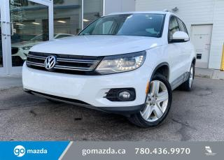 Used 2015 Volkswagen Tiguan COMFORTLINE - LEATHER, AWD, SUNROOF,BACK UP, HEATED SEATS AND MUCH MORE! for sale in Edmonton, AB
