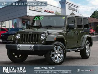 Used 2015 Jeep Wrangler Unlimited Sahara   Navigation for sale in Niagara Falls, ON