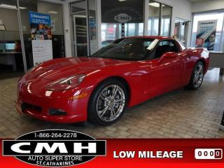 Used 2008 Chevrolet Corvette Base  *MINT* LEATH 430-HP MANUAL REMOVABLE-ROOF for sale in St. Catharines, ON