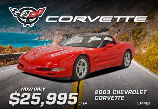 Used 2003 Chevrolet Corvette for sale in Watrous, SK