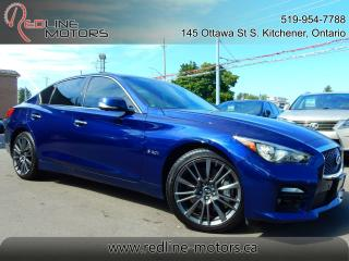 Used 2016 Infiniti Q50 AWD Red Sport 400 for sale in Kitchener, ON