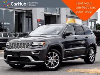 Used 2016 Jeep Grand Cherokee Summit 4WD Harman Kardon Sound Panoramic Sunroof Navigation for sale in Thornhill, ON