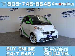 Used 2014 Smart fortwo ELECTRIC | PANO ROOF | WOW ONLY 20 KM! for sale in Brantford, ON