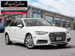 Used 2019 Audi A4 Quattro AWD ONLY 30K! **BACK-UP CAMERA** CLEAN CARPROOF for sale in Scarborough, ON