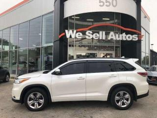 Used 2015 Toyota Highlander Limited 4dr AWD Sport Utility for sale in Winnipeg, MB