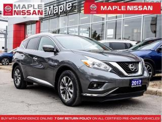 Used 2017 Nissan Murano SL Navi Blind Spot Pano Moonroof Apple Carplay for sale in Maple, ON
