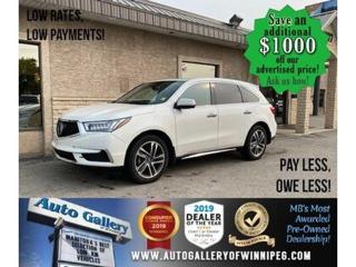 Used 2017 Acura MDX Tech Pkg* Nav/Awd/7 pass for sale in Winnipeg, MB
