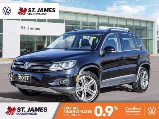 Used 2017 Volkswagen Tiguan Highline, Push to Start, Heated Seats, Backup Camera, for sale in Winnipeg, MB