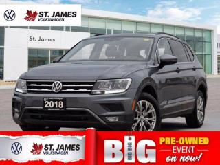 Used 2018 Volkswagen Tiguan Comfortline, Local One Owner, Apple CarPlay, Panoramic Sunroof With Navigation for sale in Winnipeg, MB