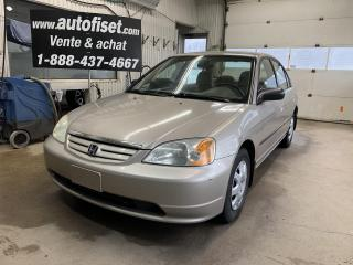 Used 2002 Honda Civic DX for sale in St-Raymond, QC