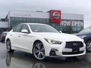 Used 2019 Infiniti Q50 3.0T Sport LEATHER, NAVIGATION, SUNROOF for sale in Midland, ON