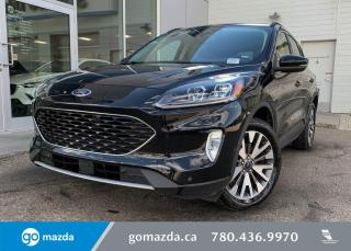 Used 2020 Ford Escape TITANIUM - HYBRID, AWD, LEATHER, REMOTE START, SUNROOF, NAV, SONY UPGRADED SOUND SYSTEM! for sale in Edmonton, AB