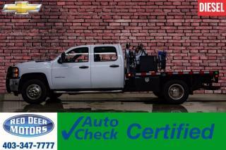 Used 2012 Chevrolet Silverado 3500HD 4x4 Crew Cab LT Deck Diesel for sale in Red Deer, AB