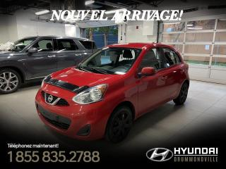 Used 2015 Nissan Micra SV + GARANTIE + A/C + CRUISE + CAMERA + for sale in Drummondville, QC