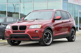 Used 2013 BMW X3 X Drive 28i TOIT PANO BAS KM *AWD*TOIT PANO*SIEGES CHAUFFANTS*AC*AUTO*++ for sale in Lachine, QC