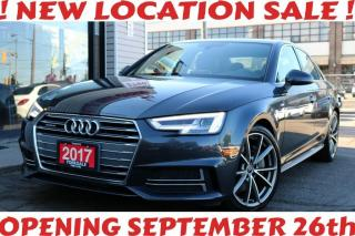 Used 2017 Audi A4 S Line Quattro, Navigation, Camera, Roof, Alloy Rims for sale in North York, ON