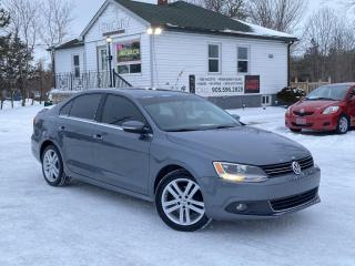 Used 2014 Volkswagen Jetta Sedan No-Accidents TDI Diesel Highline Leather Sunroof Push-Start for sale in Sutton, ON