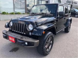 Used 2016 Jeep Wrangler Unlimited 75th Anniversary 4x4 V6 6-Speed w/Dual Tops, Navi for sale in Hamilton, ON