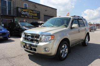 Used 2012 Ford Escape Limited,AWD,NAVIGATION,LEATHER,SUNROOF,REMOTE STARTER,BACKUP for sale in Newmarket, ON