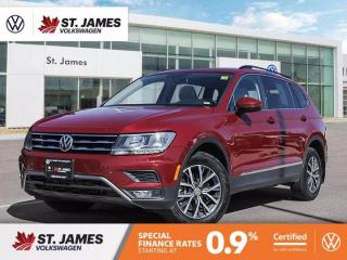 Used 2019 Volkswagen Tiguan Comfortline, Clean Carfax, Push to Start, Apple Carplay for sale in Winnipeg, MB