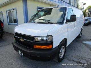 Used 2019 Chevrolet Express 3/4 TON CARGO MOVING 2 PASSENGER 4.3L - V6.. SHORTY.. BACK-UP CAMERA.. TOW SUPPORT.. MIDDLE AND REAR BARN DOORS.. AIR CONDITIONING.. for sale in Bradford, ON