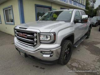 Used 2017 GMC Sierra 1500 LOADED SLT EDITION 5 PASSENGER 6.2L - V8.. 4X4.. CREW-CAB.. SHORTY.. NAVIGATION.. LEATHER.. HEATED/AC SEATS.. BACK-UP CAMERA.. POWER PEDALS.. BOSE.. for sale in Bradford, ON
