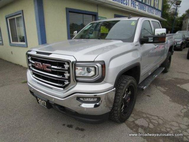 2017 GMC Sierra 1500 LOADED SLT EDITION 5 PASSENGER 6.2L - V8.. 4X4.. CREW-CAB.. SHORTY.. NAVIGATION.. LEATHER.. HEATED/AC SEATS.. BACK-UP CAMERA.. POWER PEDALS.. BOSE..