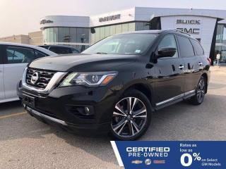 Used 2017 Nissan Pathfinder Platinum 4WD   Rear DVD   Cooled Seats   Bose for sale in Winnipeg, MB