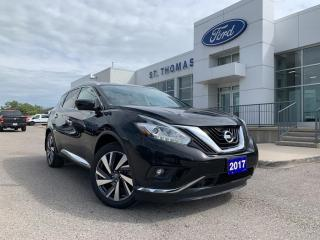 Used 2017 Nissan Murano AWD 4dr Platinum Leather/Navi/Roof for sale in St Thomas, ON