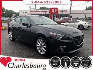 Used 2016 Mazda MAZDA3 GT AUTOMATIQUE**BOSE+CUIR+GPS** for sale in Charlesbourg, QC