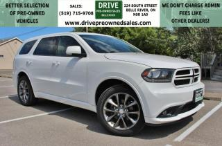 Used 2017 Dodge Durango GT AWD Leather 3rd Row Bluetooth Backup Cam for sale in Belle River, ON