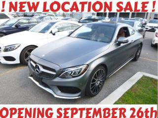 Used 2017 Mercedes-Benz C-Class C300 4M Coupe, Designo, AMG, Nav, Cam, PanoRoof, Burmester, for sale in North York, ON