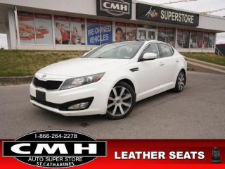 Used 2013 Kia Optima EX Luxury  LEATH PANO CAM P/SEATS CLD/HTD SEATS for sale in St. Catharines, ON