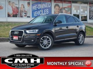 Used 2015 Audi Q3 2.0T quattro Technik  NAV CAM ROOF HTD-SEATS 18-AL for sale in St. Catharines, ON