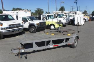 Used 1990 Heavy Duty Spool 12 Foot Flat Deck Single Axle Utility Trailer for sale in Burnaby, BC