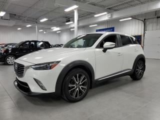 Used 2016 Mazda CX-3 GT AWD - CUIR + TOIT + CAMERA + NAVIGATION !!! for sale in St-Eustache, QC
