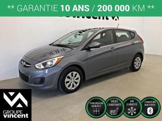 Used 2017 Hyundai Accent GL CLIMATISEUR ** GARANTIE 10 ANS ** Occasion à saisir, récent et à bas kilométrage! for sale in Shawinigan, QC