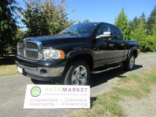 Used 2004 Dodge Ram 1500 SLT, 4x4, NAVI, CAMERA, INSP, BCAA MBSHP, WARRANTY, FINANCE! for sale in Surrey, BC