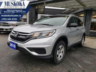 Used 2016 Honda CR-V LX  - Bluetooth -  Heated Seats for sale in Bracebridge, ON