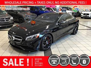 Used 2017 Mercedes-Benz S-Class AMG S 63 - Nav / Sunroof / 360 Camera for sale in Richmond, BC