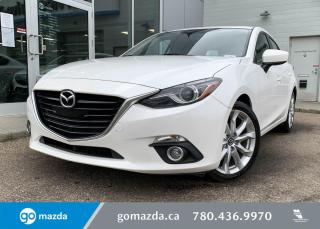 Used 2016 Mazda MAZDA3 GT -MANUAL, LOW KMS, LEATHER, NAV, BLINDSPOT, NAV, for sale in Edmonton, AB